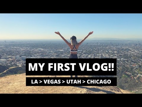MY FIRST VLOG!! - USA TRIP TO LA, VEGAS, UTAH, CHICAGO