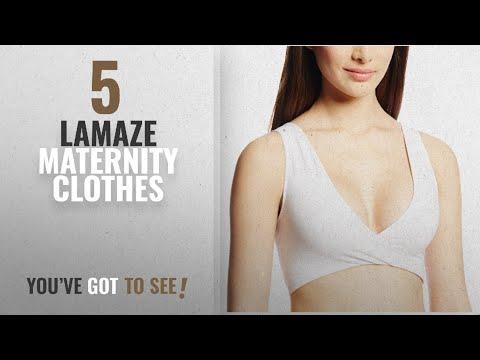 Lamaze Maternity Clothes [2018]: Lamaze Maternity Women's Cotton Spandex and Nursing Soft Sleep Bra,