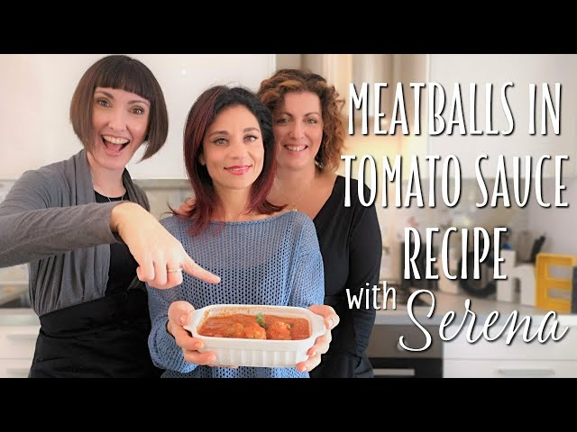 Meatballs in Tomato Sauce Recipe - Foodie Sisters in Italy