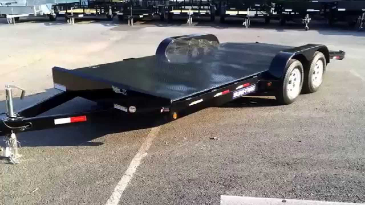 Sure Trac  X  Ft Steel Deck Car Hauler