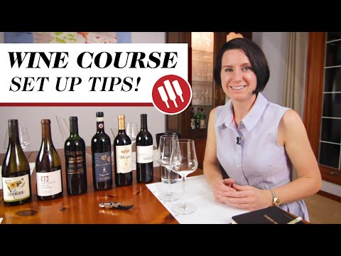 Wine Course - Set Up Tips