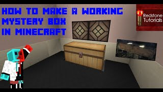 how to make a working mystery box from call of duty in minecraft