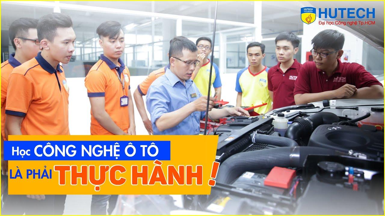 Sinh viên ngành Công nghệ kỹ thuật ô tô HUTECH