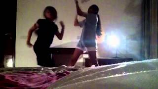 Funny Indian girls dancing on Indian Bhangra song...