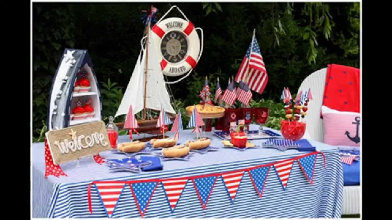 Nautical Theme Party Decor At Home Youtube