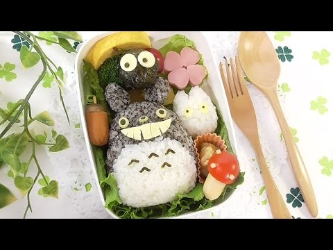totoro bento lunch box kyaraben youtube. Black Bedroom Furniture Sets. Home Design Ideas