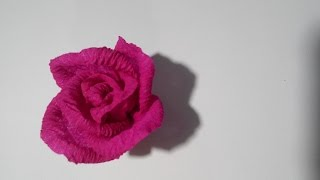 Rose of corrugated paper / Роза из гофрированной бумаги(как сделать розу из гофрированной бумаги how to make a rose out of corrugated paper comment faire une rose de papier ondulé wie man eine Rose aus ..., 2014-11-04T12:28:50.000Z)