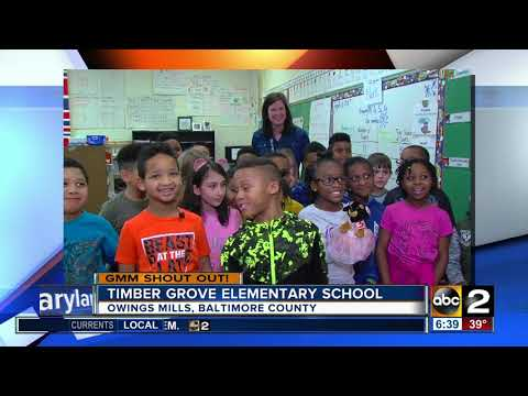 Good morning from Timber Grove Elementary School!