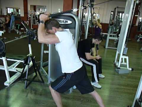 Exercice de musculation des triceps   Poulie tirage corde horizontale 275a47d4c0e