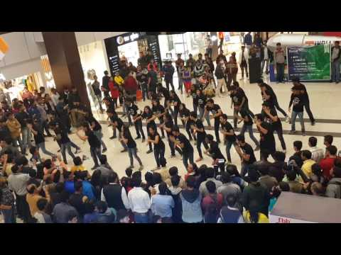 Flash mob by IIT INDORE students at TI mall #just a perfect beginning for fluxus 2017
