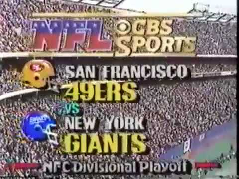 NFL on CBS Intro - 49ers vs Giants - 1/4/87 - Divisional Playoffs