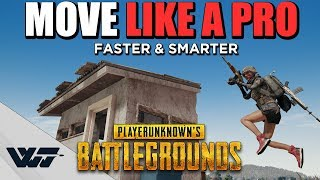 GUIDE: How to MOVE LIKE A PRO (Bunny Jumping, Sharp Turns, Speedclimbing stairs) - PUBG