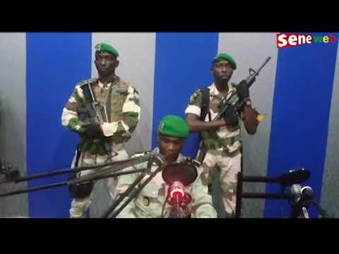 Lieutenant Kelly de l'armée du Gabon prend en otage la Radio nationale