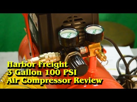 hqdefault harbor freight 3 gallon 100 psi air compressor review youtube  at beritabola.co