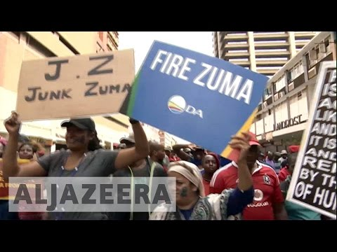 South Africa opposition protests urge Zuma to quit