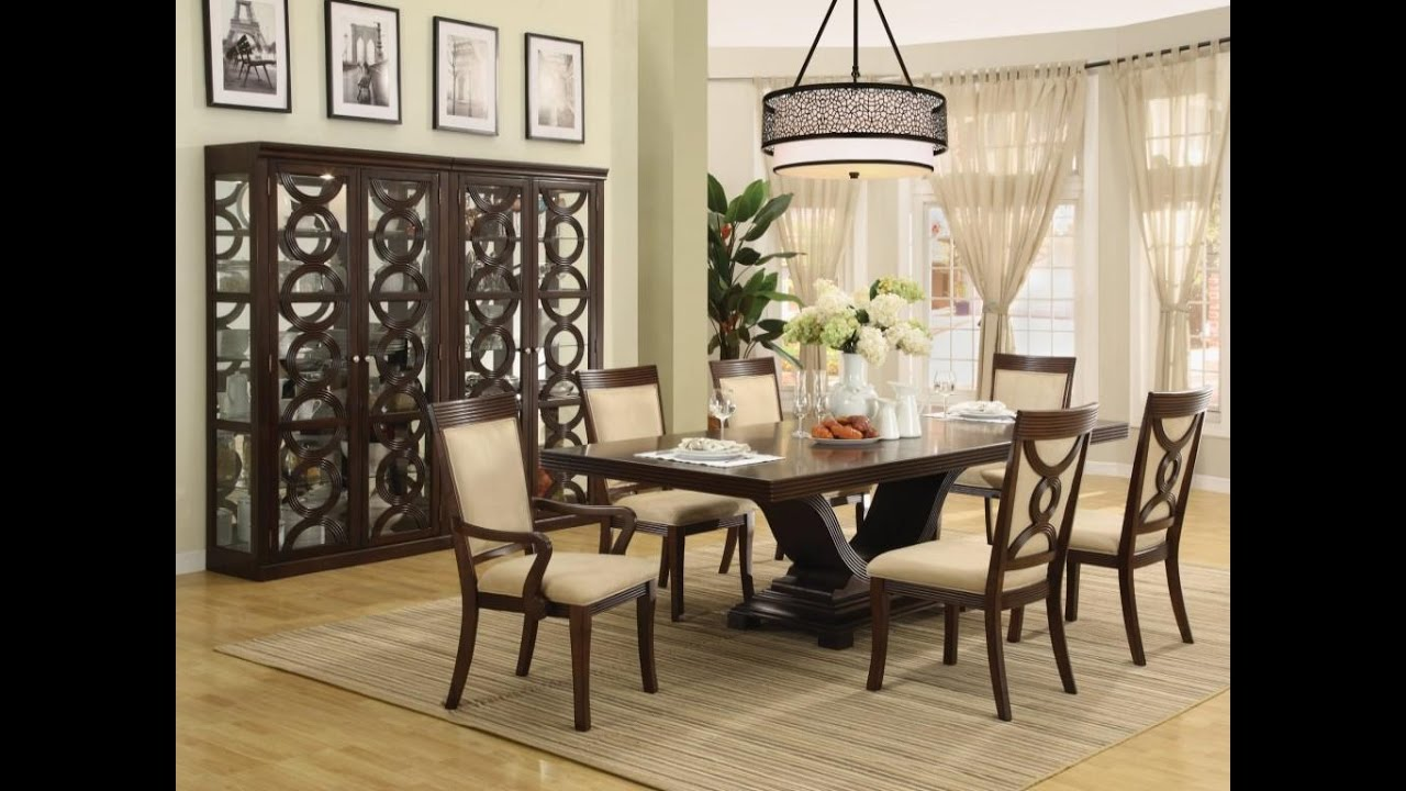 Contemporary Dining Room Designs Design centerpieces for dining room table - youtube