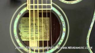 Ibanez Joe Satriani JSA10 Black Acoustic Guitar - Nevada Music Guitar SALE !!