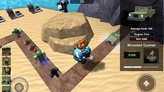 Tower Battles ( Roblox playing with ryman022 ) Military set