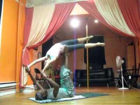 Motion Design Acrobatic Yoga students at Master Jay Master Moves Studio