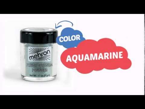Mehron Celebre Gem Powders - Aquamarine AQ (0.17 oz/4.8 gm) - ClownAntics.com