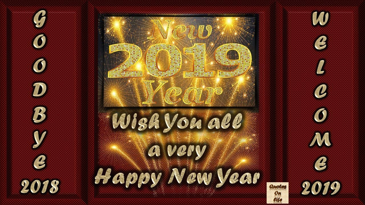 Happy New Year 2019 wishes animated ecard greetings ...