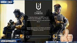 RainbowSix:Siege-OPERATION CHIMERA START UP & NEW OPS GAMEPLAY - COSMETICS