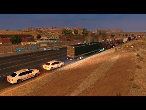 Convoy American Truck Simulator   De Elko Nevada a Redding California