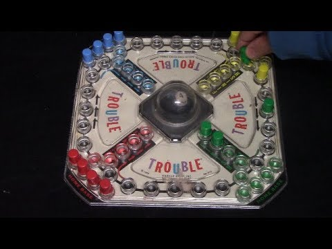 How To Play Original Trouble Board Game Youtube
