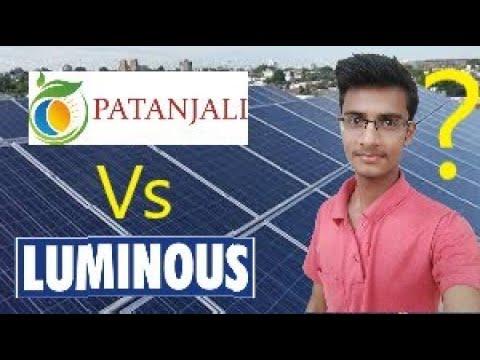 Patanjali Solar VS Luminous Solar Prize 2019 || India Guru Solar ||