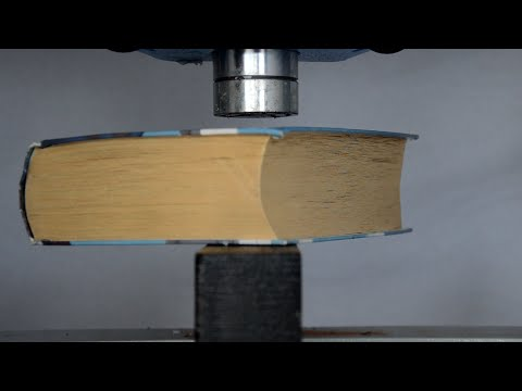 Thumbnail: Thick Book vs Hydraulic Press - How to turn a book back to wood