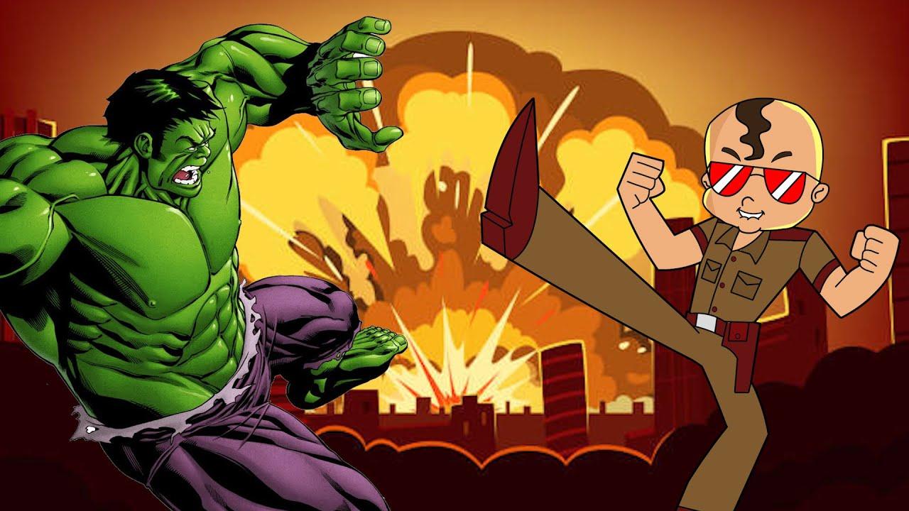 Constable Singham Kick Hulk In War