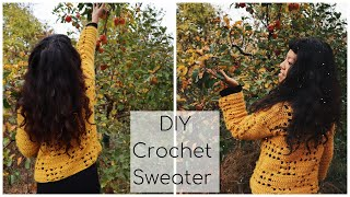 How to crochet a sweater/DIY Autumn Sweater