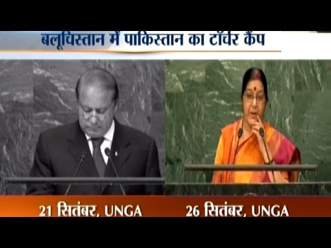 Sushma Swaraj Tears Apart Pakistan PM Nawaz Sharif's Speech at UN