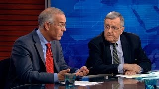 Image result for Images of Mark Shields and David Brooks on PBS Newshour