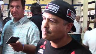 ROBERT GARCIA ON MIKEY GARCIA'S PLAN TO WIN TITLES BEFORE MOVING UP IN SEARCH OF MARQUEE NAME