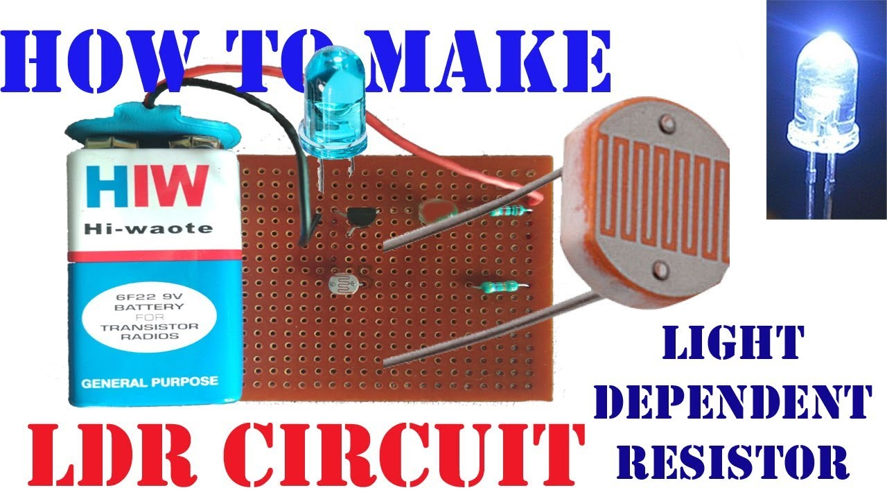 Ldr Circuit How To Make Light Dependent Resistor Youtube Resistors