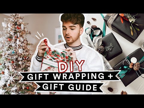 DIY GIFT WRAPPING IDEAS + Holiday Gift Guide for EVERYBODY!! ❄️🎁