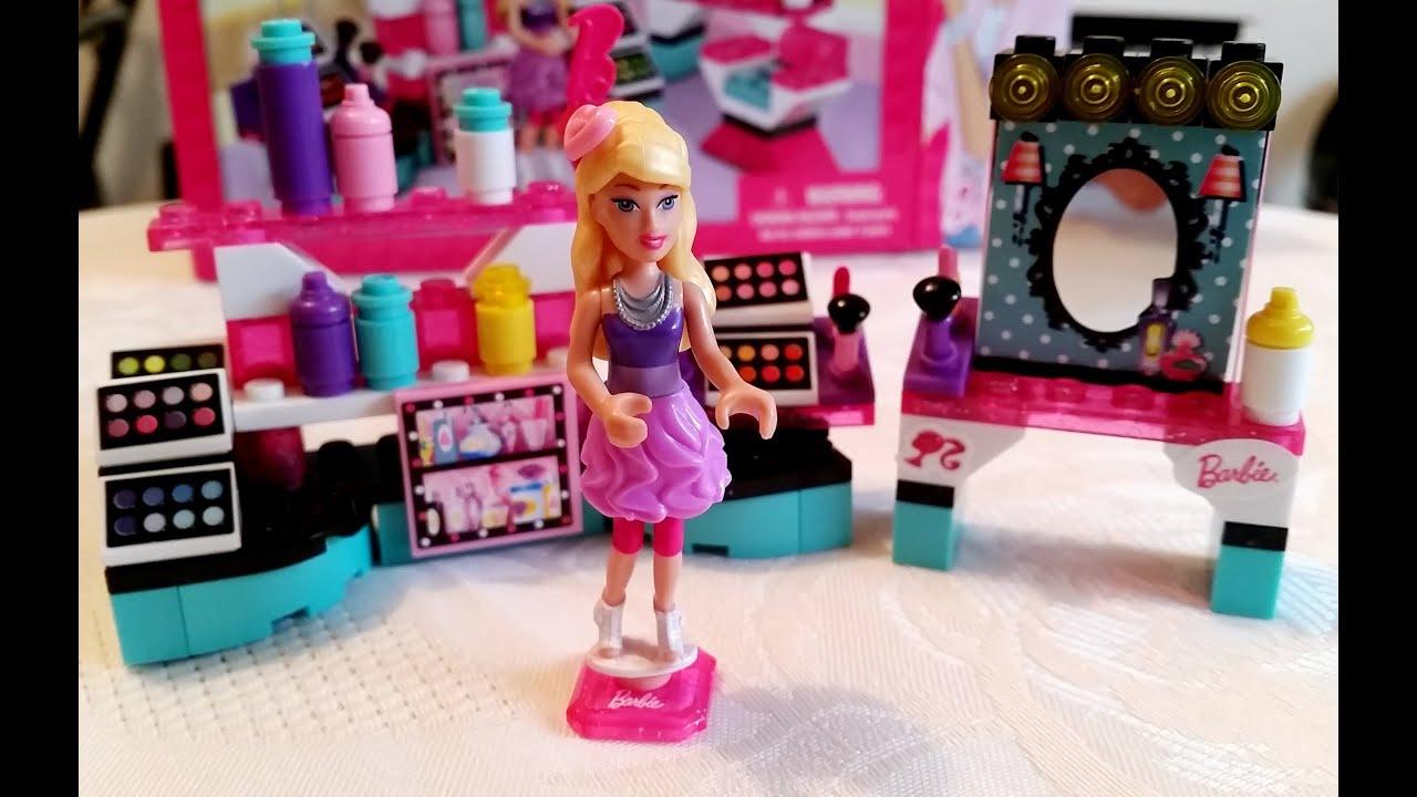 Barbie lego toys Mega bloks for girl Makeup set Video from KIDS