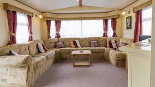 Caravan for hire at California Cliffs holiday park in Norfolk