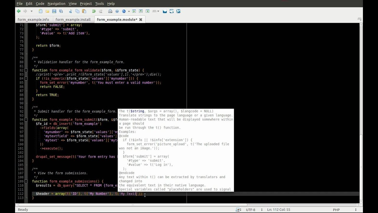 Drupal 7 Module Development Part 7 - Database API displaying data - Daily  Dose of Drupal Episode 22