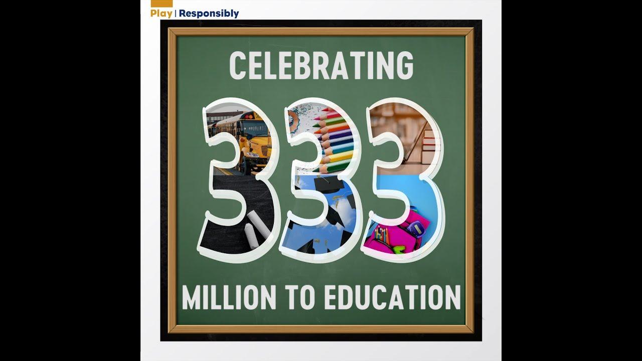 Celebrating $333 million to Education!
