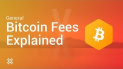 Bitcoin Fees Explained