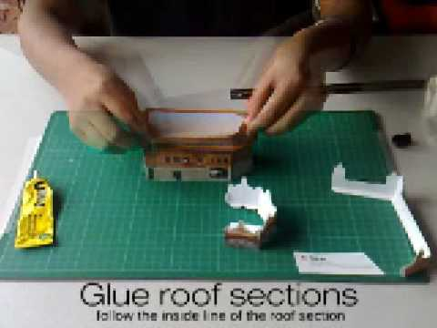 Golden temple papercraft tutorial youtube for How to make paper temple