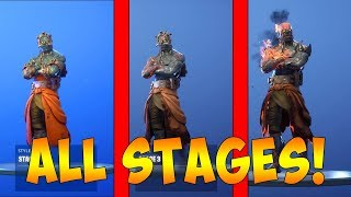 How to Unlock ALL STAGES of the Prisoner Skin in FORTNITE! (ALL LOCATIONS FOR UPGRADE in 3 minutes!)