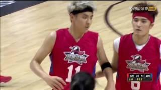 [VID CUT] 160910 Ngô Diệc Phàm ghi 15 điểm và 14 lần bắt bóng bật bảng tại trận đấu bóng rổ Tencent