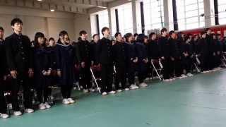 20150303 高岡高校卒業式校歌