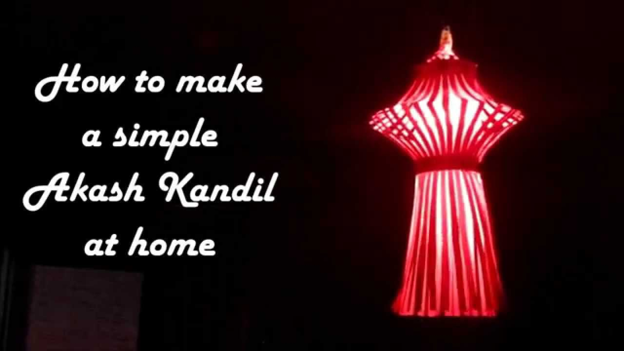 DIY - How to make simple akash kandil at home | Diwali lantern or ... for Diwali Lamp Craft  56bof