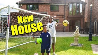 OUR FIRST EVER FOOTBALL CHALLENGE IN THE NEW HOUSE!