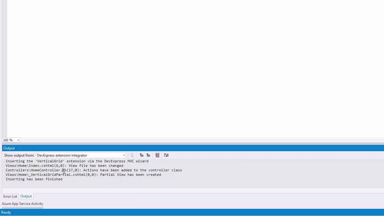 ASP NET MVC Vertical Grid - Getting Started