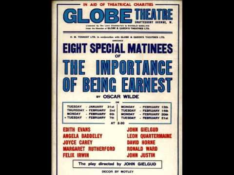 The Importance of Being Earnest: Lady Bracknell Interviews John Worthing (1939)